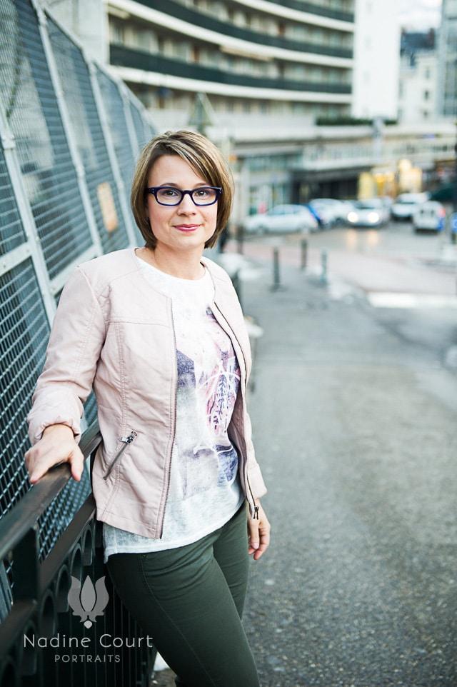 Séance portrait féminin dans les rues de Chambéry