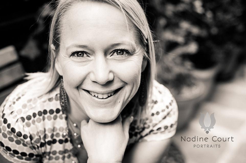 Portrait en n&b de Christine Lewicki