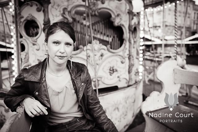 Portrait en noir&blanc dans un manège à Rennes