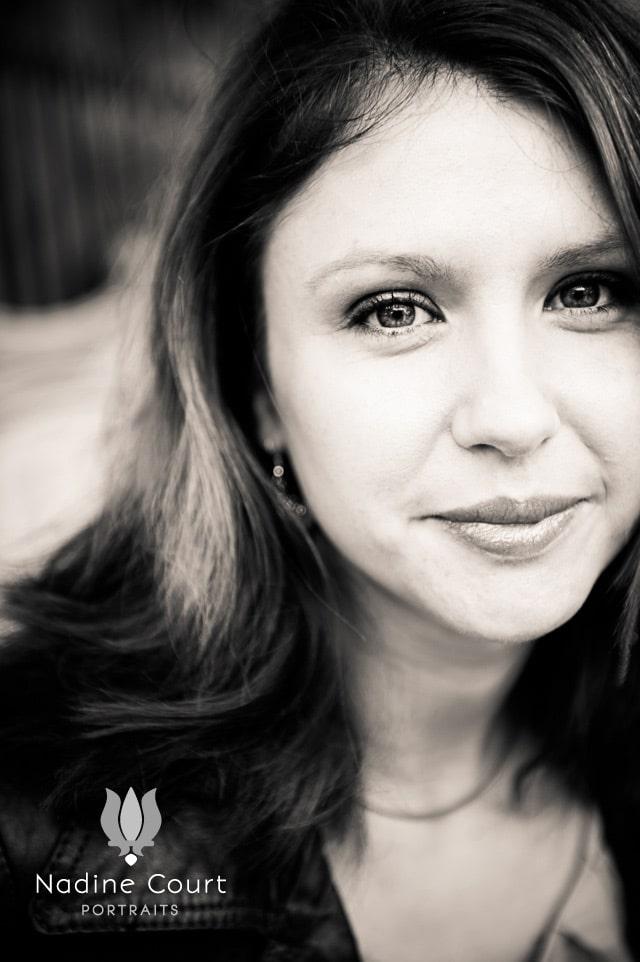 Portrait en noir&blanc de Tiphaine Julienne
